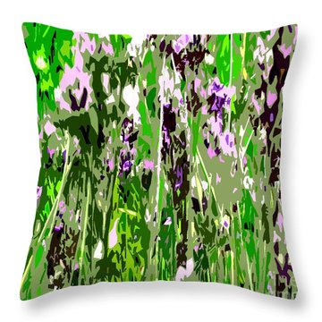 Lavender In Summer Throw Pillow by Patrick J Murphy