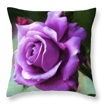 Lavender Lady Throw Pillow