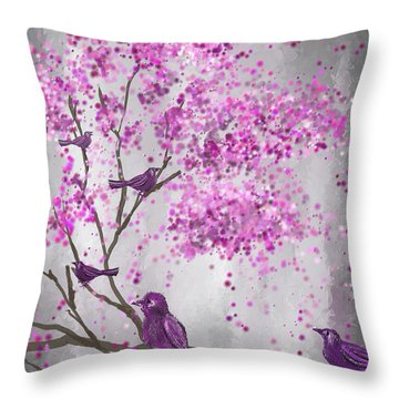 Purple And Gray Throw Pillows
