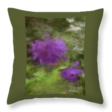 Throw Pillow featuring the digital art Monet Meadow by The Art of Alice Terrill