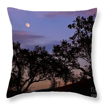 Lavender Moon Twilight Throw Pillow