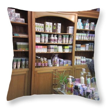 Lavender Museum Shop 1 Throw Pillow by Pema Hou