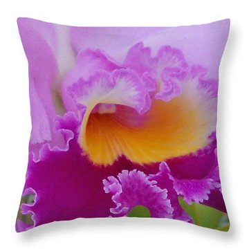 Lavender Orchid Throw Pillow by Aimee L Maher Photography and Art Visit ALMGallerydotcom