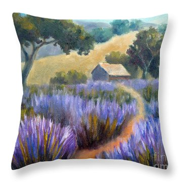 Lavender Path Throw Pillow