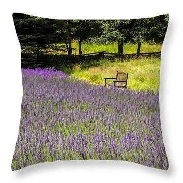 Lavender Rest Throw Pillow