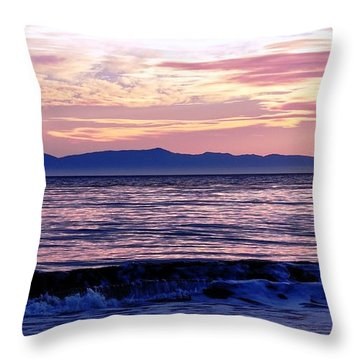 Throw Pillow featuring the photograph Lavender Sea by Sue Halstenberg
