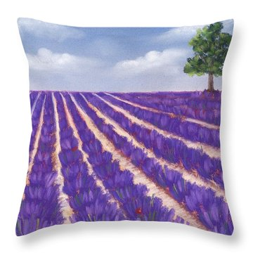 Lavender Season Throw Pillow by Anastasiya Malakhova