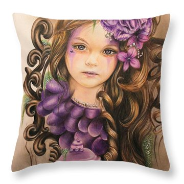 Lavender  Throw Pillow by Sheena Pike