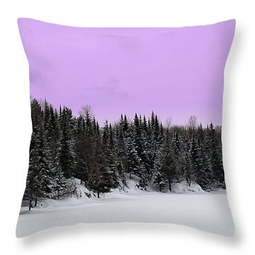 Throw Pillow featuring the photograph Lavender Skies by Bianca Nadeau