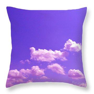 Lavender Skies Throw Pillow