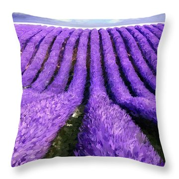 Lavender Straight Throw Pillow