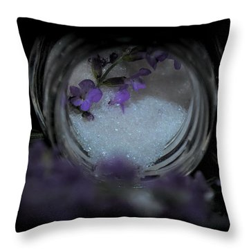 Throw Pillow featuring the photograph Lavender Sugar by Marija Djedovic