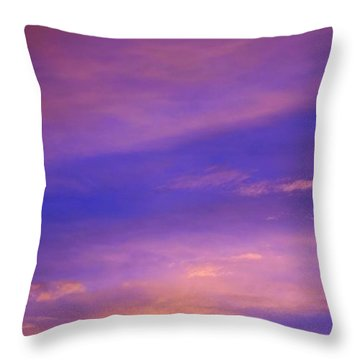 Throw Pillow featuring the photograph Lavender Sunrise by Sue Halstenberg