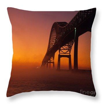 Laviolette Bridge Throw Pillow by Publiphoto