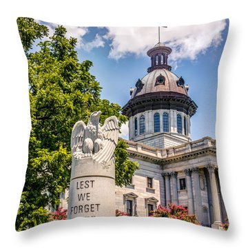 Throw Pillow featuring the photograph Law Enforcement Memorial by Rob Sellers