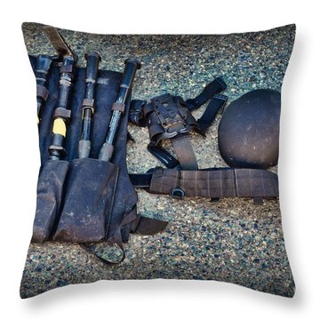 Law Enforcement -swat Gear - Entry Tools Throw Pillow by Paul Ward