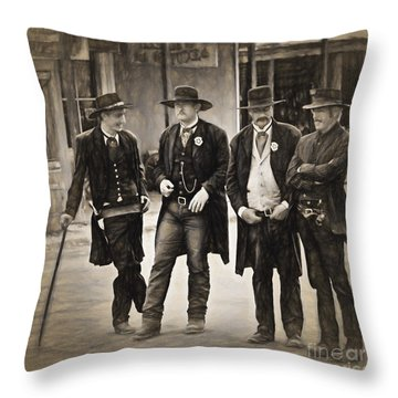 Lawmen And Armed Citizens  ... Throw Pillow