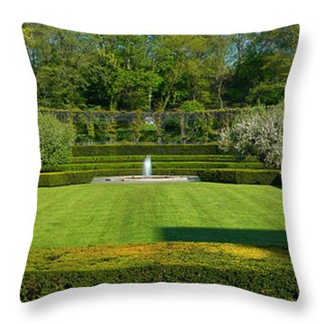 Throw Pillow featuring the photograph Lawn In Central Park by Yue Wang
