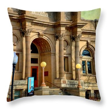Lawrence City Library Throw Pillow by Liane Wright