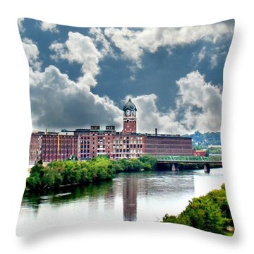 Lawrence Ma Historic Clock Tower Throw Pillow