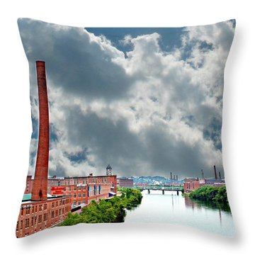 Lawrence Ma Skyline Throw Pillow