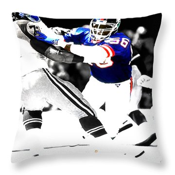Lawrence Taylor Out Of My Way Throw Pillow