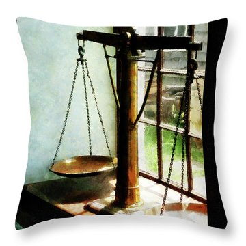Lawyer - Scales Of Justice Throw Pillow