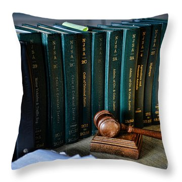 Lawyer - The Code Of Criminal Justice Throw Pillow by Paul Ward