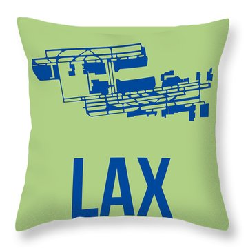 Lax Airport Poster 1 Throw Pillow by Naxart Studio
