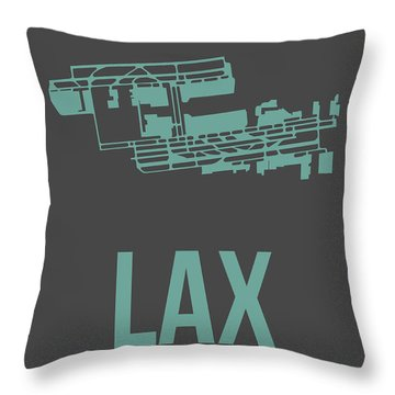 Lax Airport Poster 2 Throw Pillow