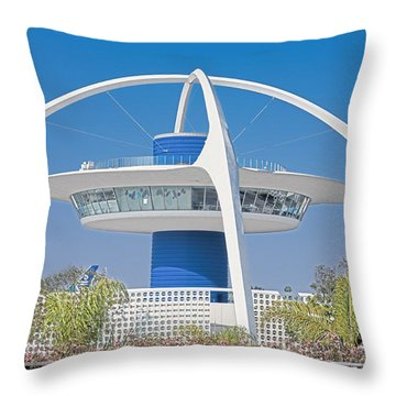Lax Spaceship Throw Pillow by Matthew Bamberg