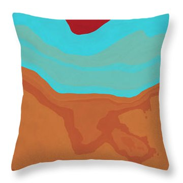 Layers And Form 2 Throw Pillow by David G Paul