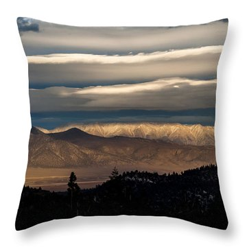 Layers Throw Pillow by Cat Connor