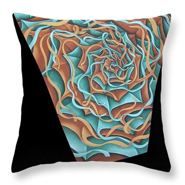Layers Clvii Throw Pillow