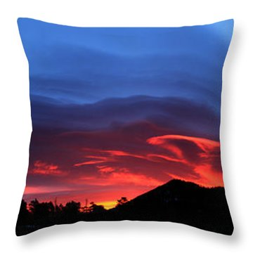 Layers In The Sky - Panorama Throw Pillow