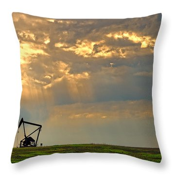Layers Of Energy Throw Pillow