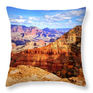 Layers Of The Canyon Throw Pillow by Tara Turner