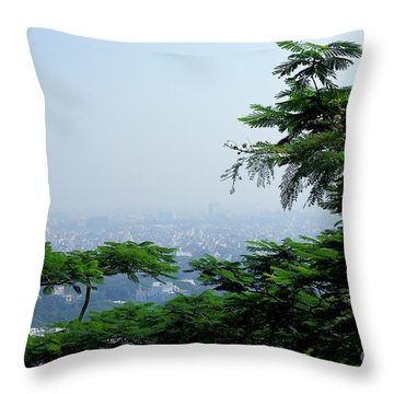 Layers Of Tree Throw Pillow
