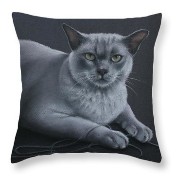 Throw Pillow featuring the pastel Layla by Cynthia House