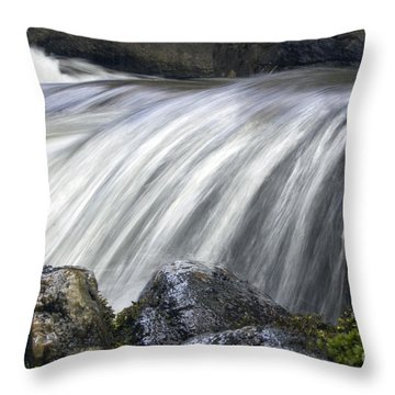 Lazerne Falls Cascade Throw Pillow by Darleen Stry
