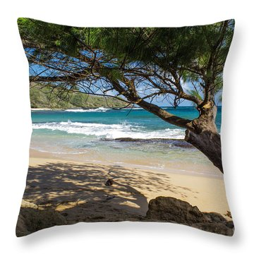 Lazy Day At The Beach Throw Pillow