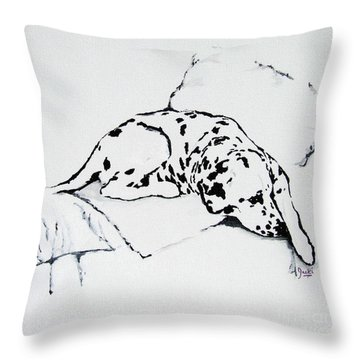 Lazy Day Throw Pillow by Jacki McGovern
