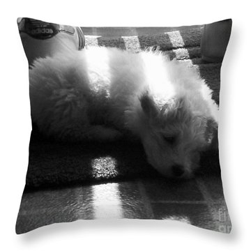 Throw Pillow featuring the photograph Lazy Days by Michael Krek