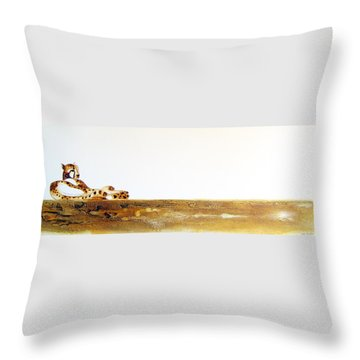 Lazy Dayz Cheetah - Original Artwork Throw Pillow