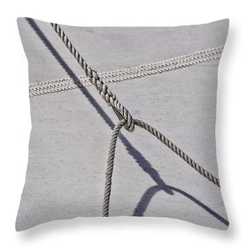 Throw Pillow featuring the photograph Lazy Jack-shadow And Sail by Marty Saccone