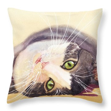 Lazy Kitty Throw Pillow