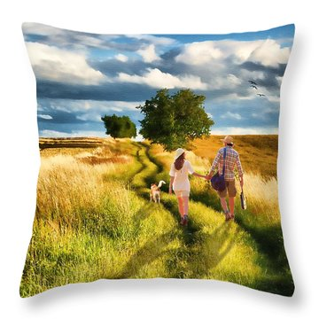Lazy Summer Afternoon Throw Pillow by Tom Schmidt