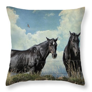 Lazy Summer Day Throw Pillow by Karen Slagle