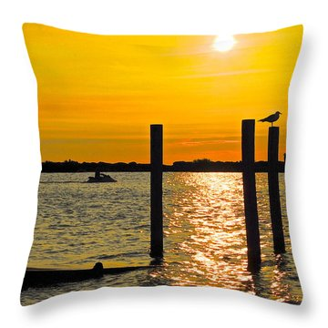 Lazy Summer Day Throw Pillow by Frozen in Time Fine Art Photography