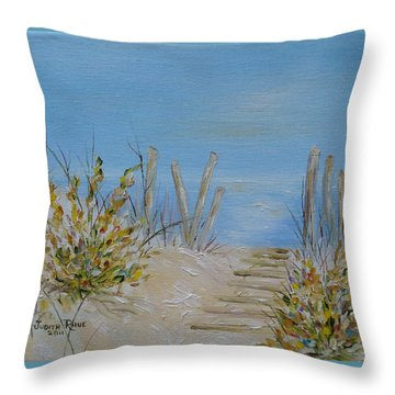 Throw Pillow featuring the painting Lbi Peace by Judith Rhue